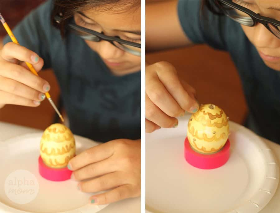 10 Beauty and the Beast Inspired Easter Egg DIYs: Belle's Ball Gown (by Brenda Ponnay for Alphamom.com)