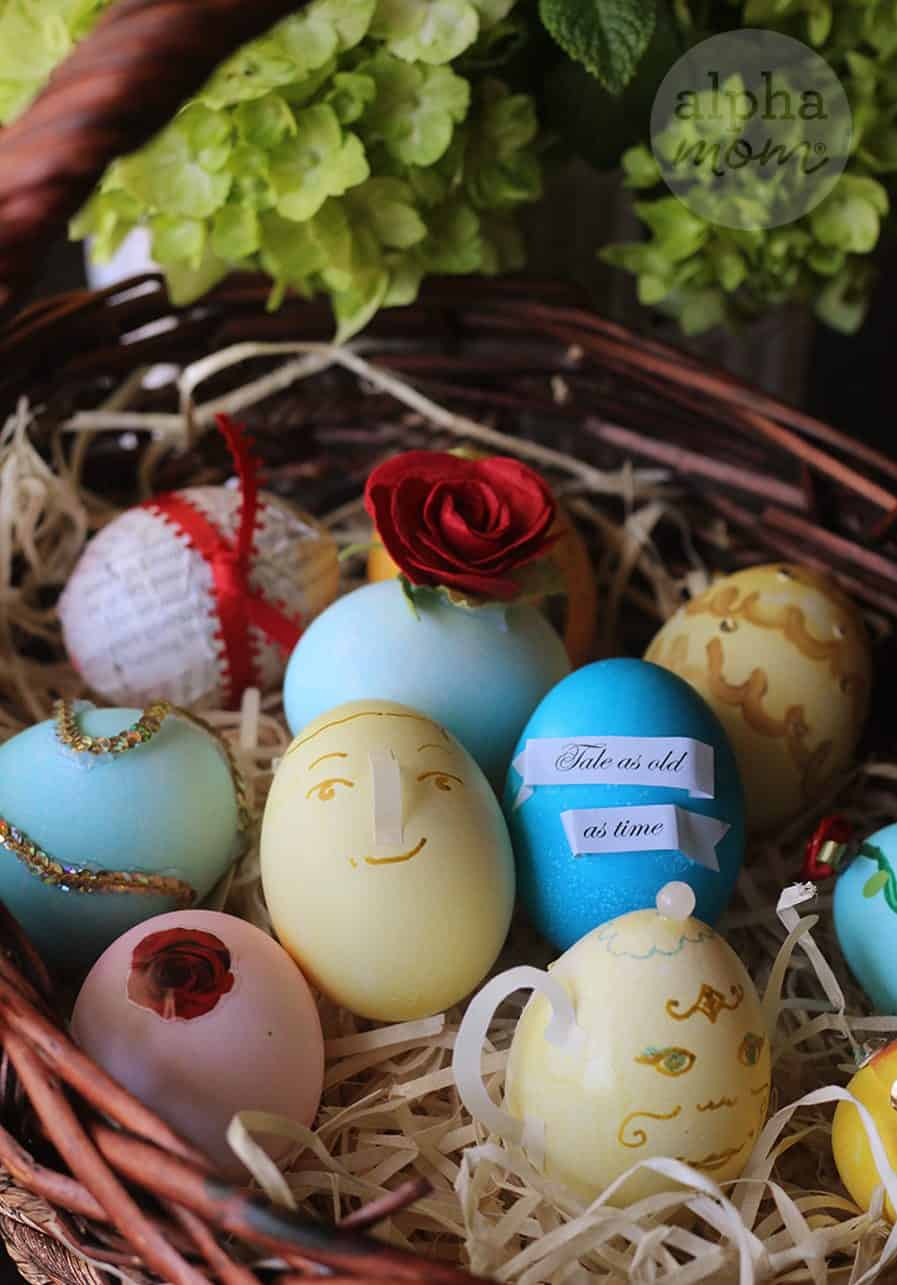 10 Beauty and the Beast Inspired Easter Egg DIYs by Brenda Ponnay for Alphamom.com