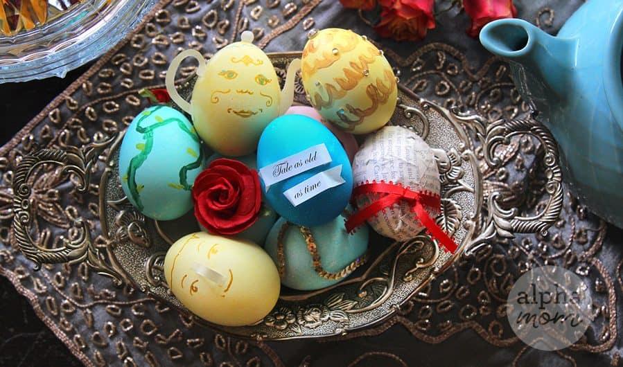 Beauty and the Beast Inspired Easter Egg DIYs by Brenda Ponnay for Alphamom.com