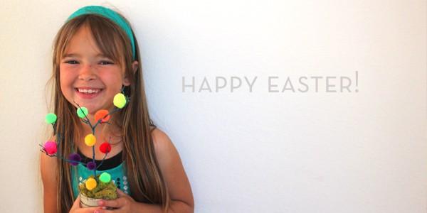DIY Mini Easter Trees by Brenda Ponnay for Alphamom.com