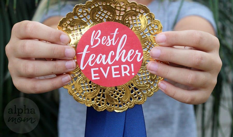 Teacher Appreciation Badges by Brenda Ponnay for Alphamom.com