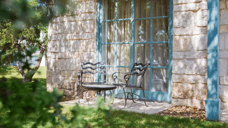 Texas-Sized Family Fun at Hyatt Regency Hill Country Resort: patio access room