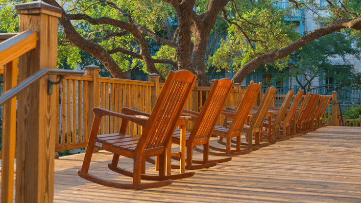 Texas-Sized Family Fun at Hyatt Regency Hill Country Resort: rocking chairs