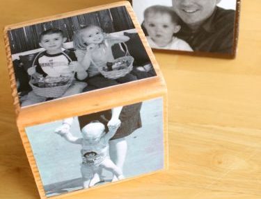 Handmade Photo Cube for Mother's Day by Marie Lebaron for Alphamom.com