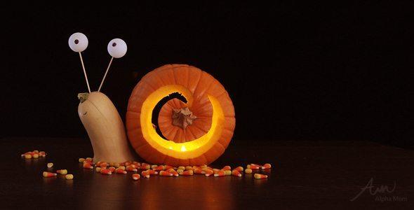 Snail 3D Jack o' Lantern DIY by Brenda Ponnay for Alphamom.com