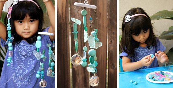 Homemade Wind Chimes for Mom (Mother's Day Gift DIY) by Brenda Ponnay for Alphamom.com