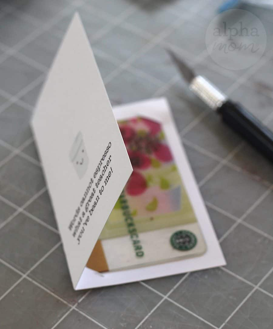 Fun Coffee Gift Card Holders just for Teacher for Brenda Ponnay for Alphamom.com (insert gift card)