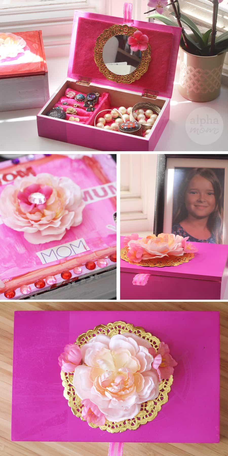 Jewelry Box DIY for Mother's Day (decorating ideas) by Brenda Ponnay for Alphamom.com