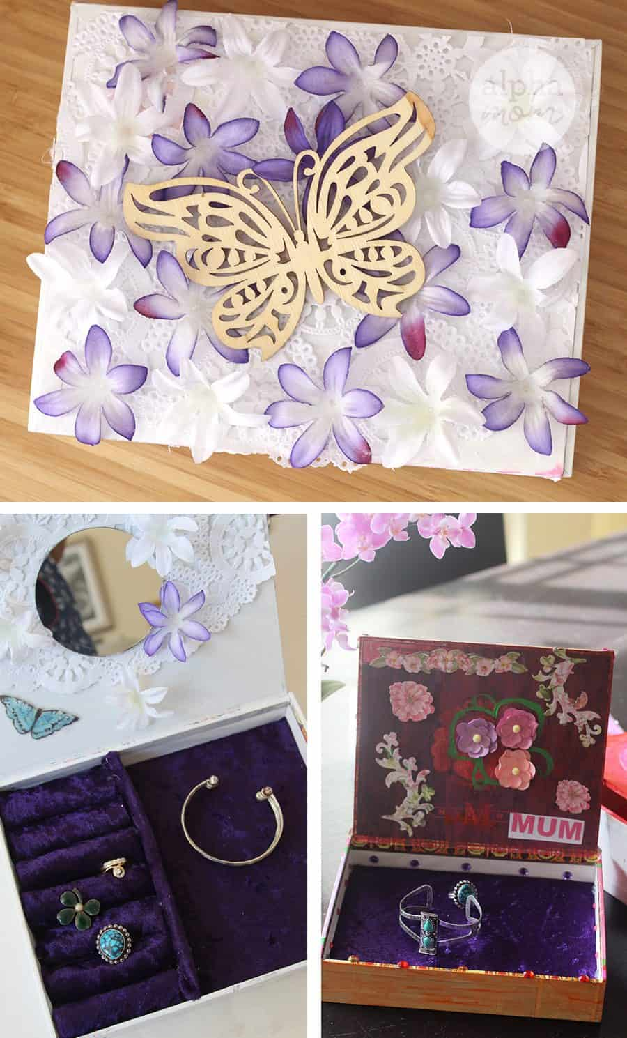 Jewelry Box DIY for Mother's Day (decorating butterfly) by Brenda Ponnay for Alphamom.com