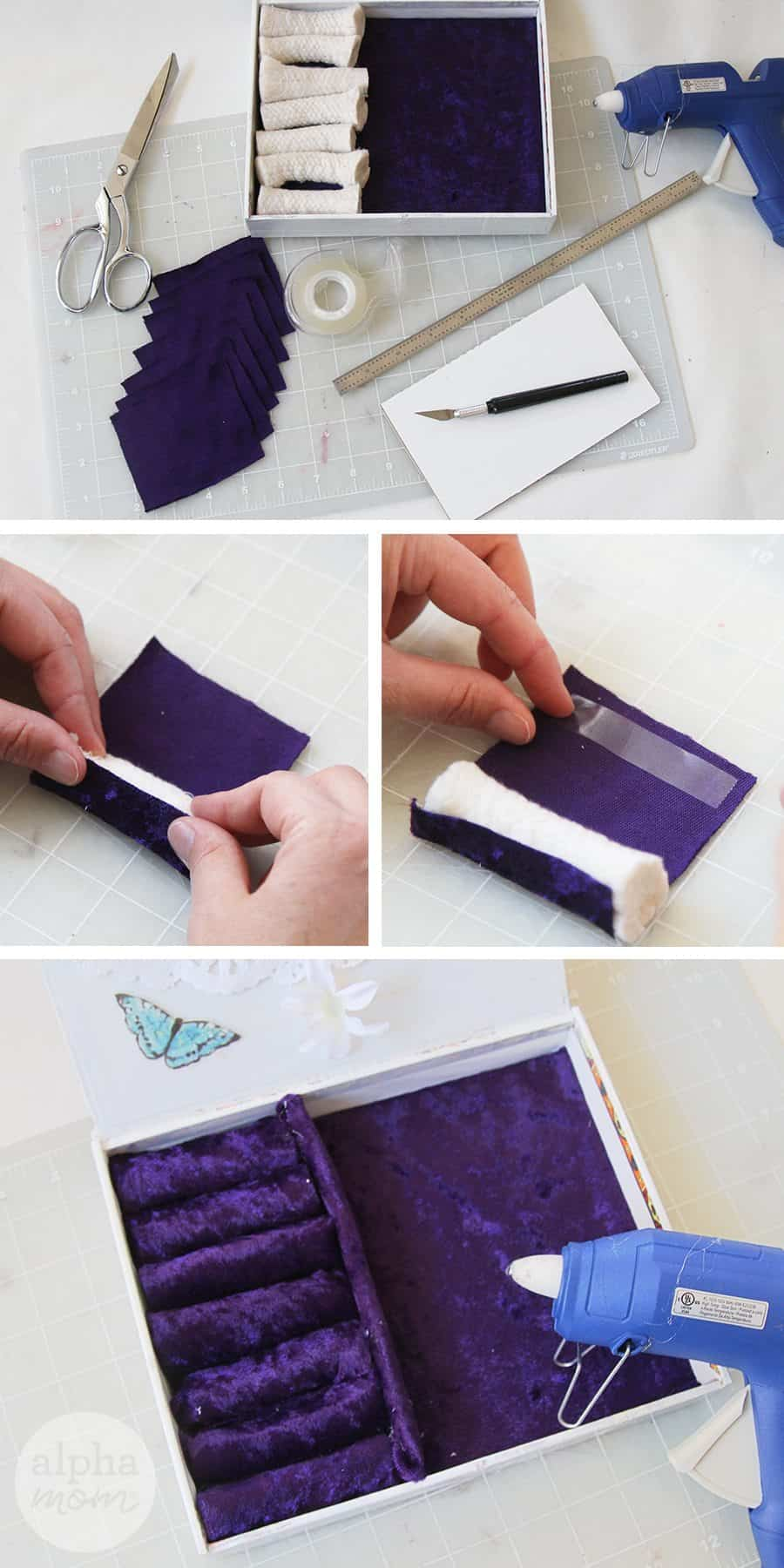 Jewelry Box DIY for Mother's Day (ring divider) by Brenda Ponnay for Alphamom.com