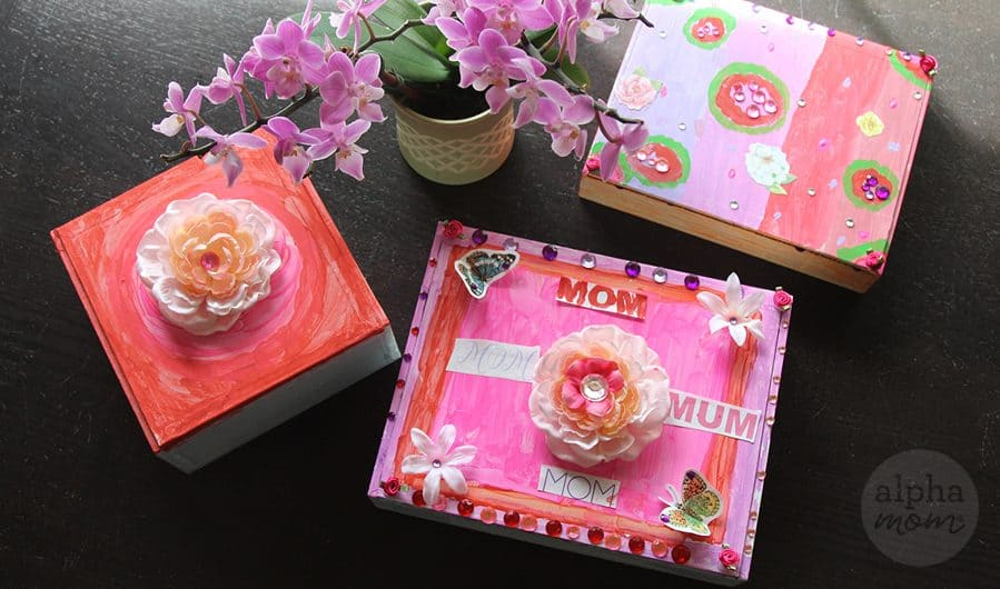 Handmade Jewelry Box for Mothers Day Alpha Mom