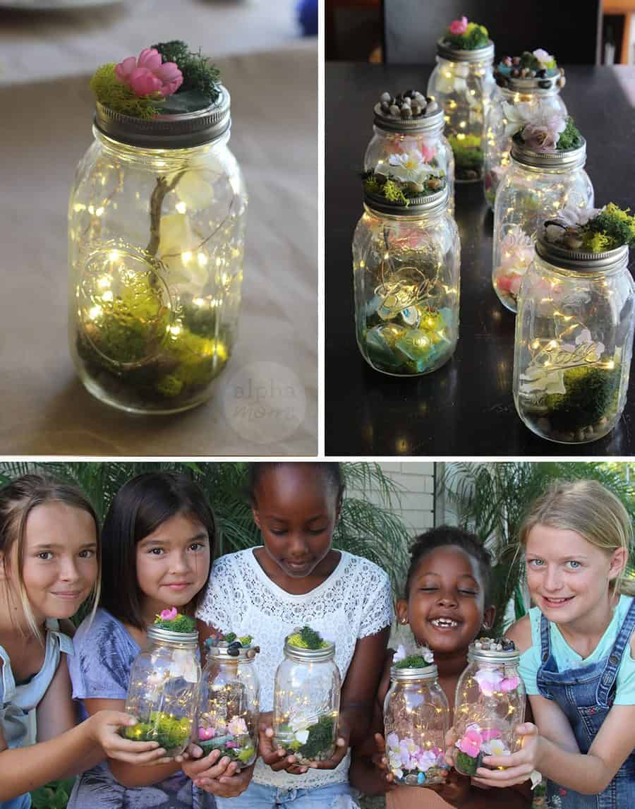 Kids Learn to Make Their Own Light-Up Fairy Jars (close-up) by Brenda Ponnay for Alphamom.com