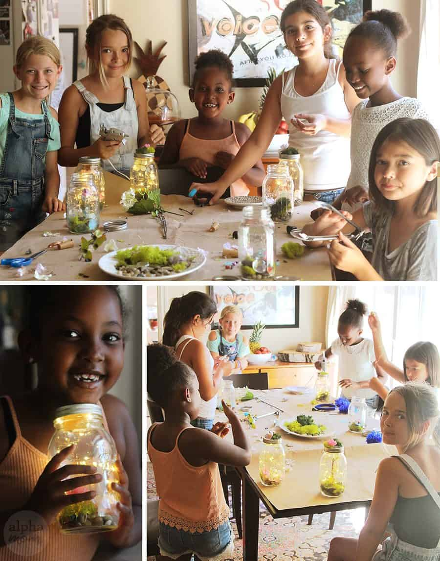 Kids Learn to Make Their Own Light-Up Fairy Jars (craft party) by Brenda Ponnay for Alphamom.com
