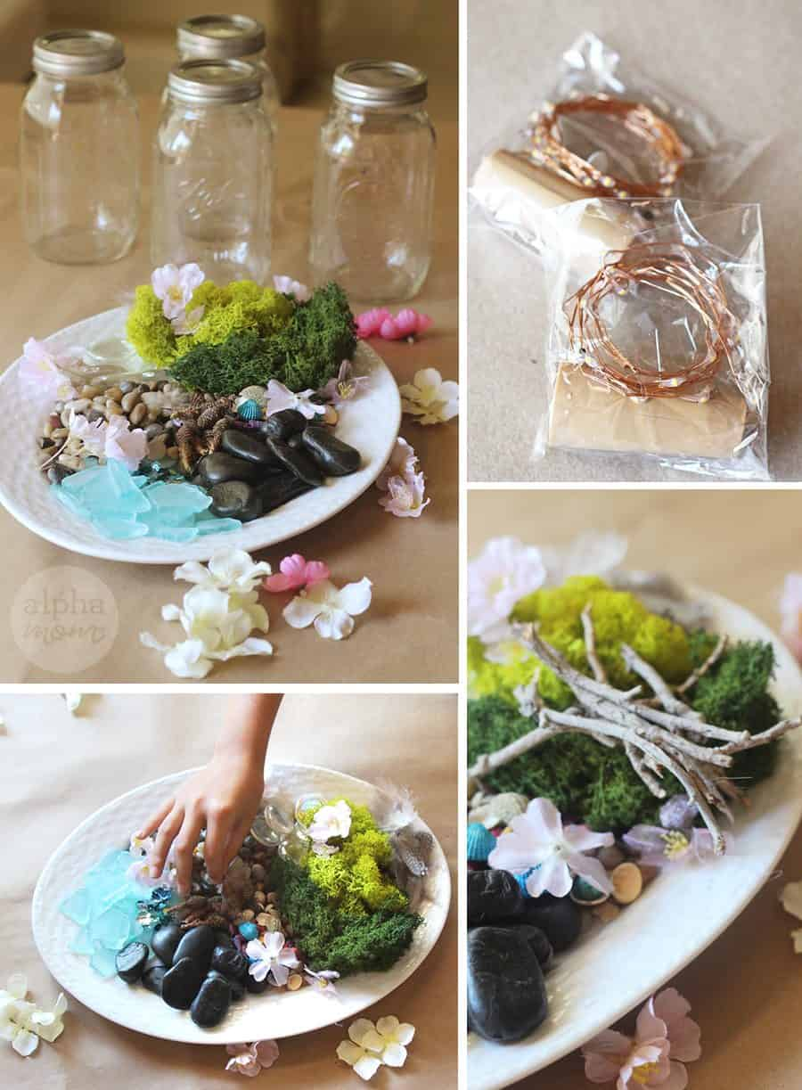 Kids Can Make Their Own Light-Up Fairy Jars (supplies) by Brenda Ponnay for Alphamom.com