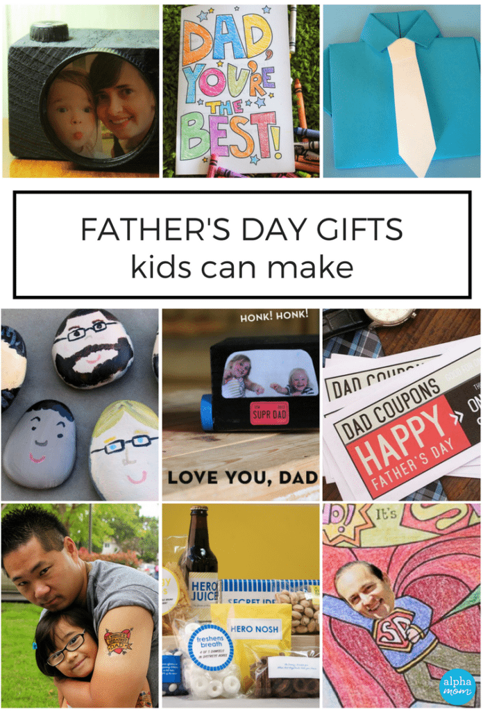 Great Father's Day Gifts that kids can help make: click through for the tutorials (found on Alphamom.com)