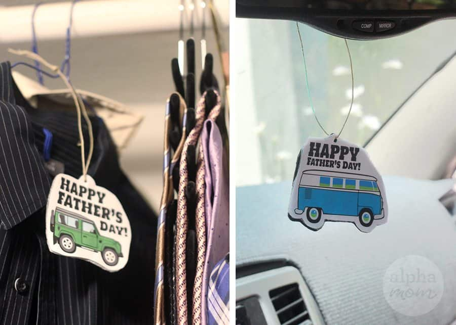 DIY Air Fresheners for Father's Day (for closet or car) by Brenda Ponnay for Alphamom.com