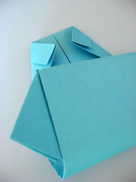 Step 8 - Origami Father's Day card (folding up the middle)