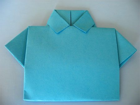 Father's Day Craft: Shirt & Tie Origami Card by Cindy Hopper for Alphamom.com (step 9)