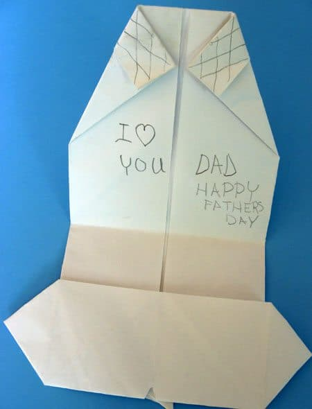 Father's Day Craft: Shirt & Tie Origami Card by Cindy Hopper for Alphamom.com (internal message)