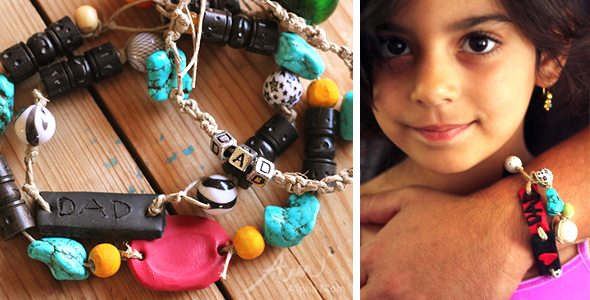 Father's Day Bling: DIY Hemp Beaded Bracelets by Brenda Ponnay for Alphamom.com