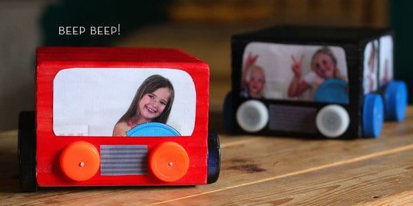 Father's Day Car Photo Cube by Brenda Ponnay for Alphamom.com