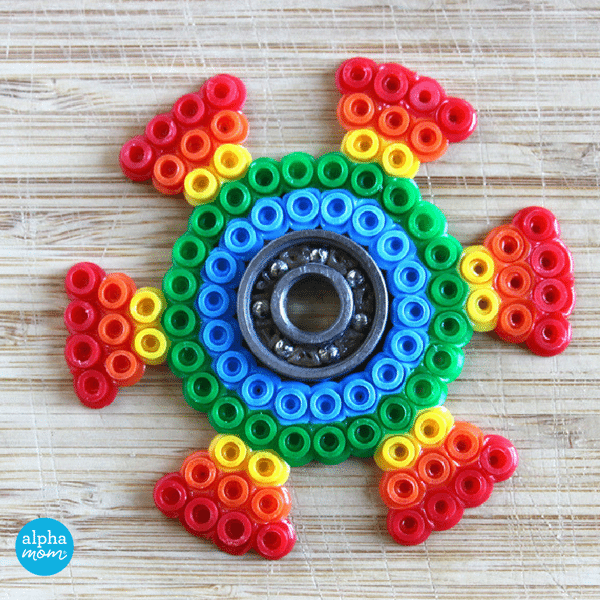 DIY Fidget Spinners with Fuse Beads (almost done!) by Wendy Copley for Alphamom.com