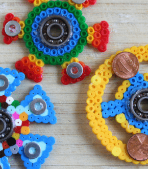 DIY Fidget Spinners with Fuse Beads by Wendy Copley for Alphamom.com