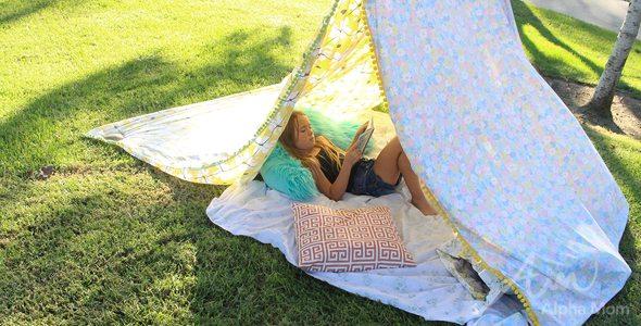Super Simple DIY Reading Tent by Brenda Ponnay for Alphamom.com & Super Simple DIY Reading Tent | Alpha Mom