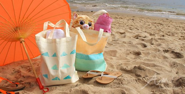 Totes Beachy! Paint Your Own Beach Tote by Brenda Ponnay for Alphamom.com