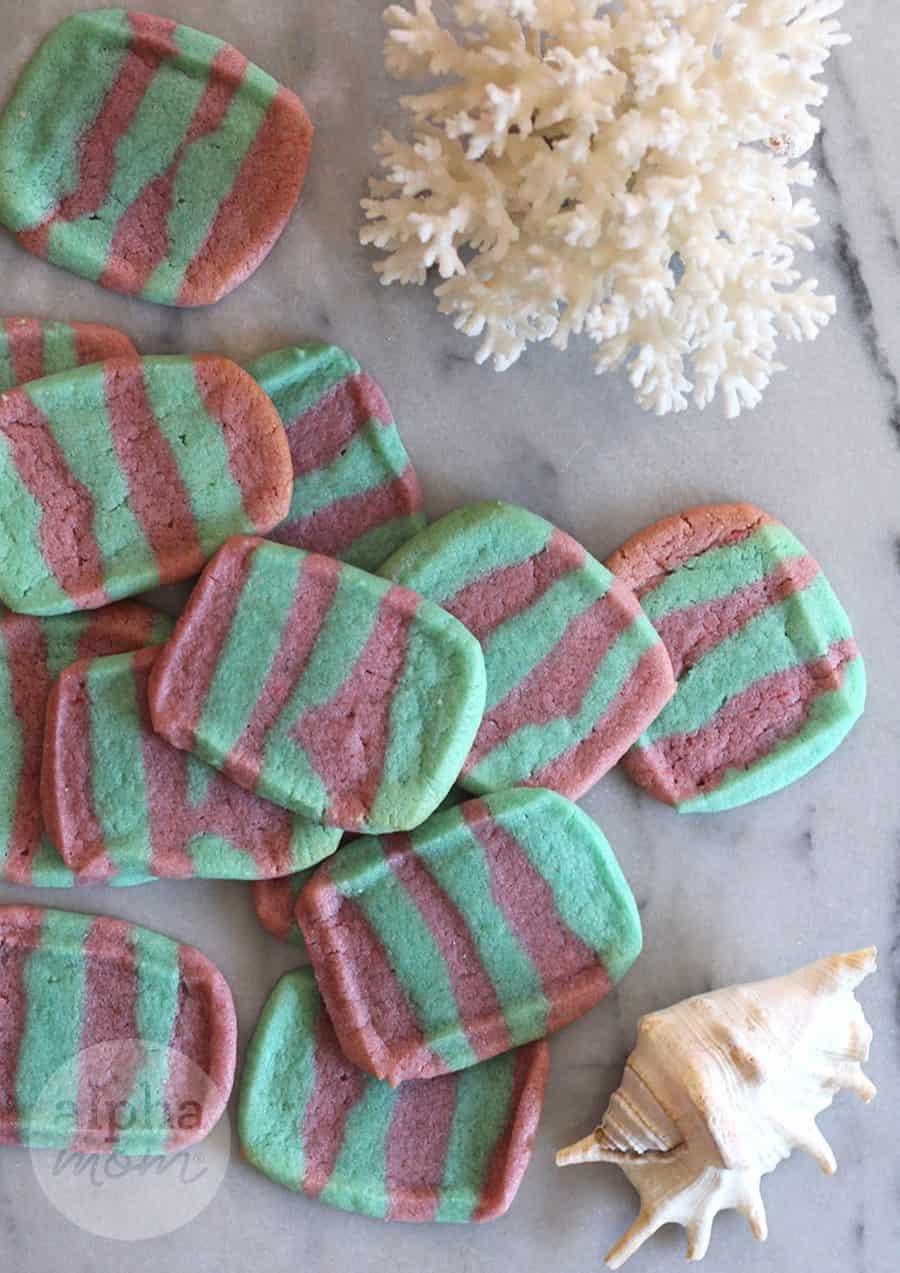 Mermaid Icebox Cookies (baked)