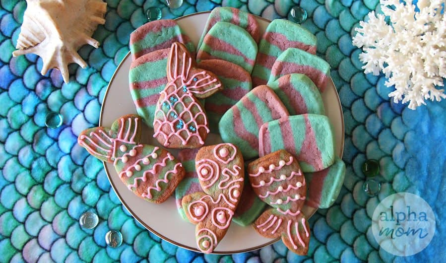 Mermaid Icebox Cookies Recipe by Brenda Ponnay for Alphamom.com