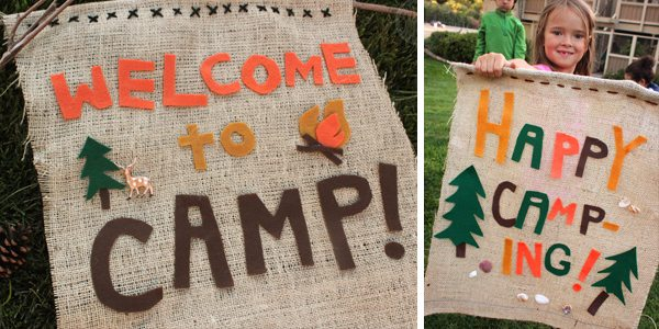 "Make Your Own ""Welcome to Camp"" Banner! by Brenda Ponnay for Alphamom.com"