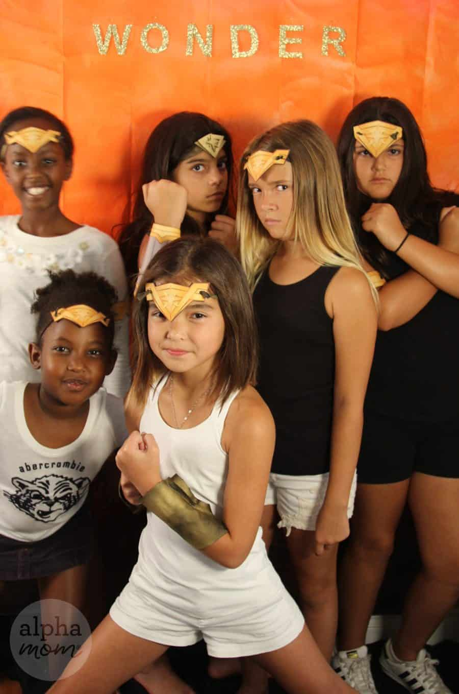 Wonder Woman Costume Party Photo Background (girl squad) by Brenda Ponnay for Alphamom.com