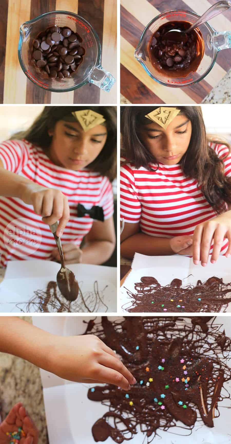 Wonder Woman Cupcake Toppers Printable! (chocolate brittle) by Brenda Ponnay for Alphamom.com
