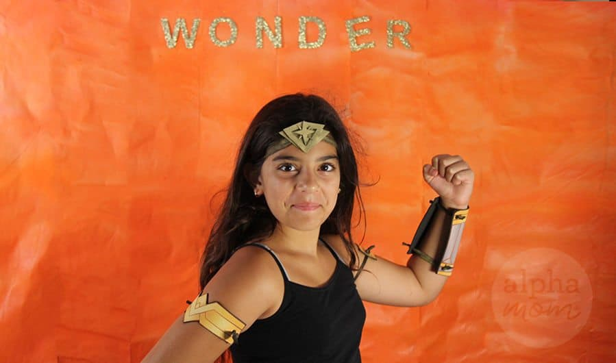 Kids' Wonder Woman Costume with Homemade Headband, Cuffs and Armbands! by Brenda Ponnay for Alphamom.com