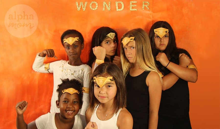 Wonder Woman Costume Party Photo Background by Brenda Ponnay for Alphamom.com