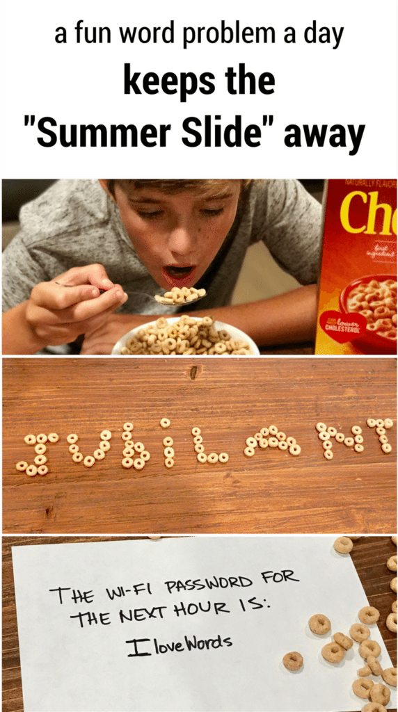 Child eating a bowl of Cheerios cereal (named spelled in cheerios on a table)