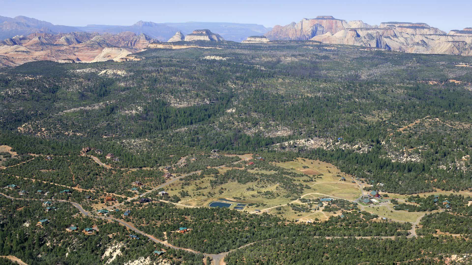Zion Ponderosa Resort Review (aerial view!)