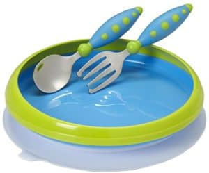 Toddler Suction Plates, Bowls and Placemats That Your Kid Might Not Be Able To Throw Across the Room (Gerber Graduates Lil' Trainer Tableware Set)