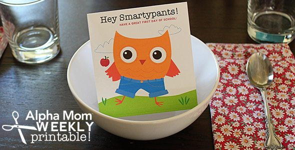 First Day of School Breakfast Sign Printable! by Brenda Ponnay for Alphamom.com