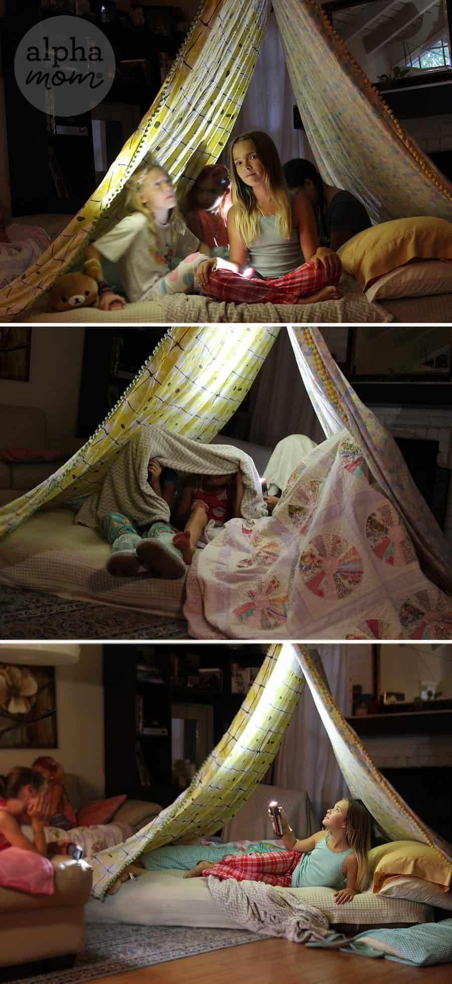 Morse Code Sleepover (tent) by Brenda Ponnay for Alphamom.com