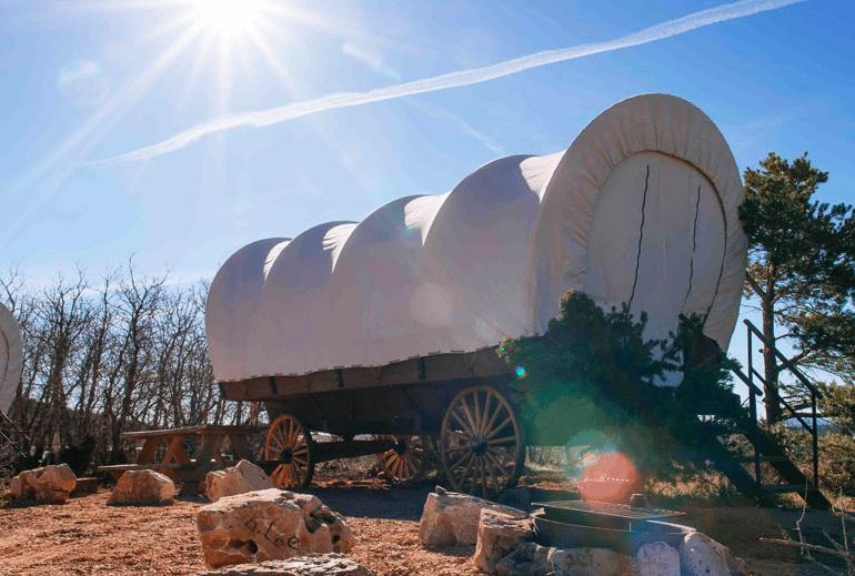 Zion Ponderosa Resort wagon tent