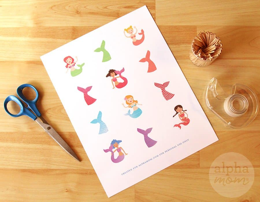 Mermaid Party: Cupcake Toppers (printable) by Brenda Ponnay for Alphamom.com