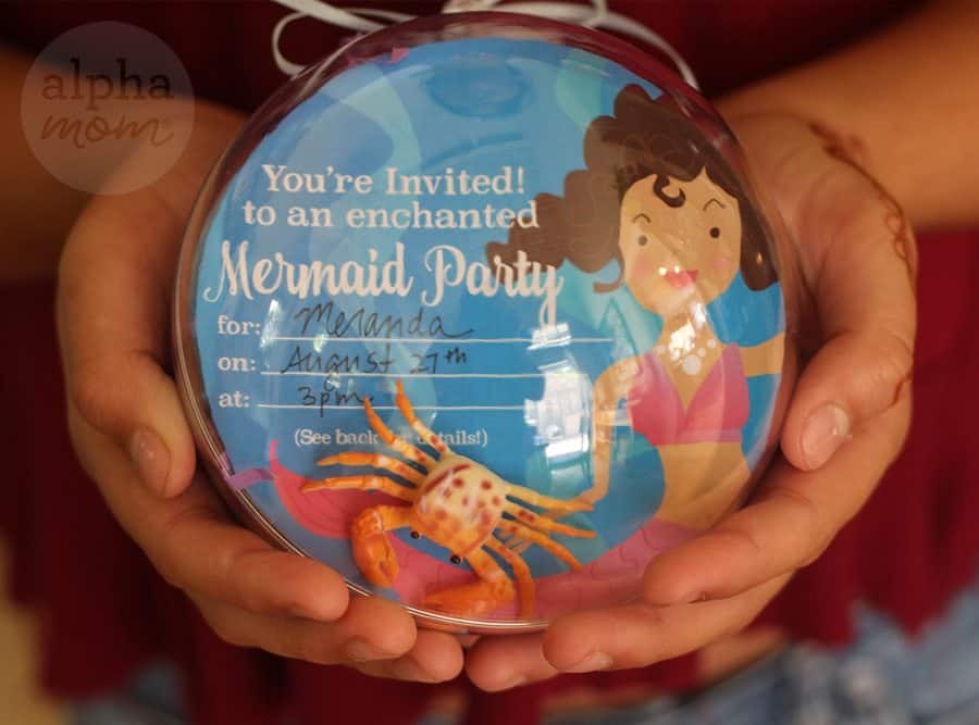 Mermaid Party Invitations DIY by Brenda Ponnay for Alphamom.com