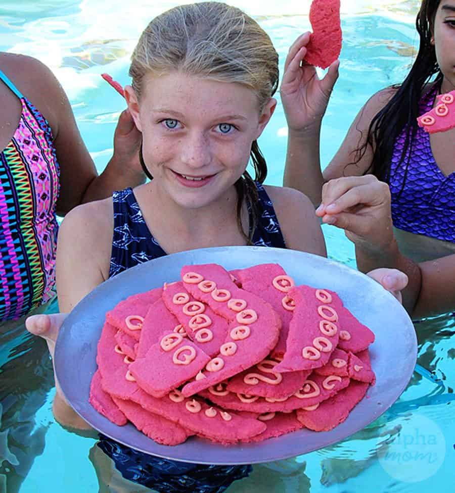 Mermaid Party: Octopus Tentacle Cookies (pool party) by Brenda Ponnay for Alphamom.com