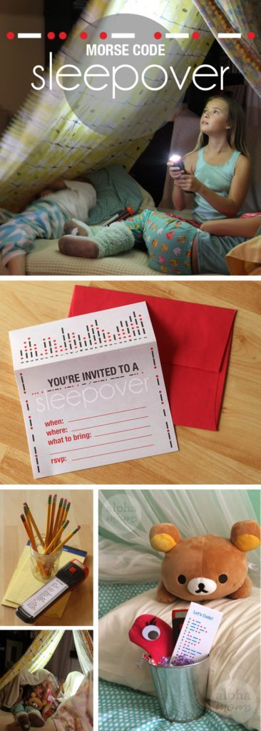 Morse Code Sleepover Party How-To by Brenda Ponnay for Alphamom.com (sponsored by Energizer)