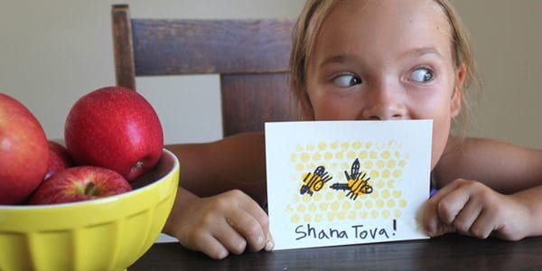 Sweet Little DIY Honey Bee Cards for Rosh Hashanah! by Brenda Ponnay for Alphamom.com