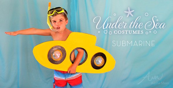 DIY Submarine Kid's Costume (from Under-the-Sea Costume Series)