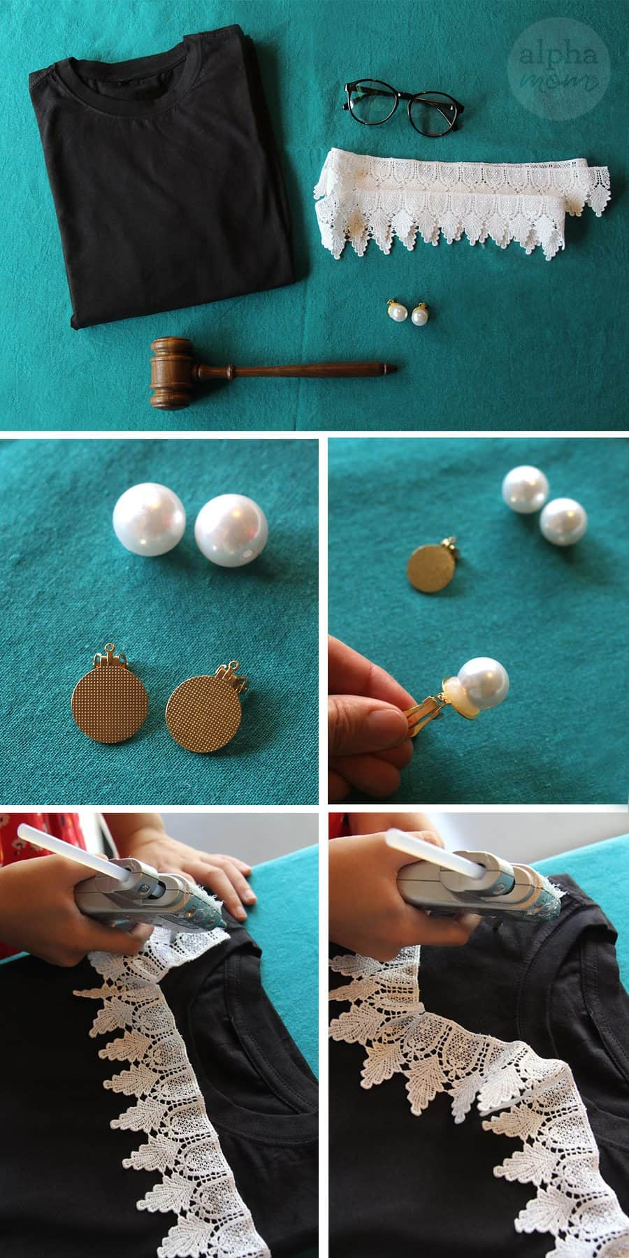 Ruth Bader Ginsburg Costume DIY (how-to) by Brenda Ponnay for Alphamom.com