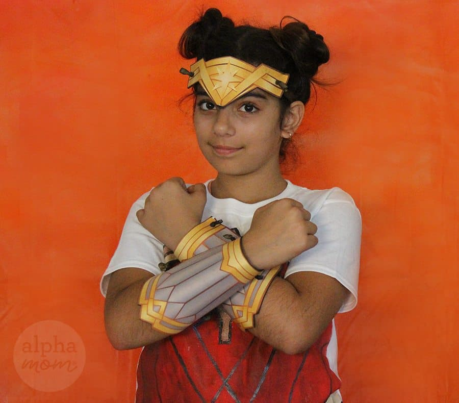 Wonder Woman T-shirt Costume by Brenda Ponnay for Alphamom.com